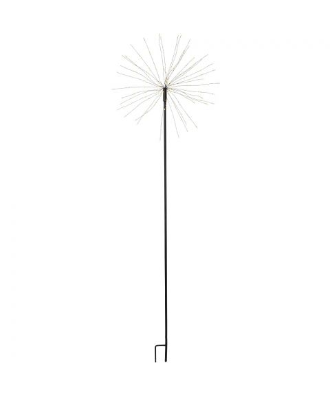 Firework utendørs på pinne, høyde 110 cm, LED (x160), Sort, Varmhvitt lys