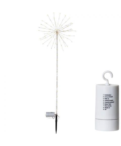 Firework utendørs på pinne for batteri, med timer, Varmhvit Chaser