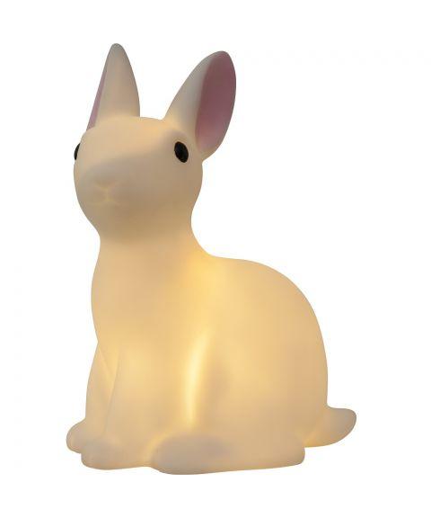 Polly Kanin, To kaniner med LED-lys, høyde 15 cm