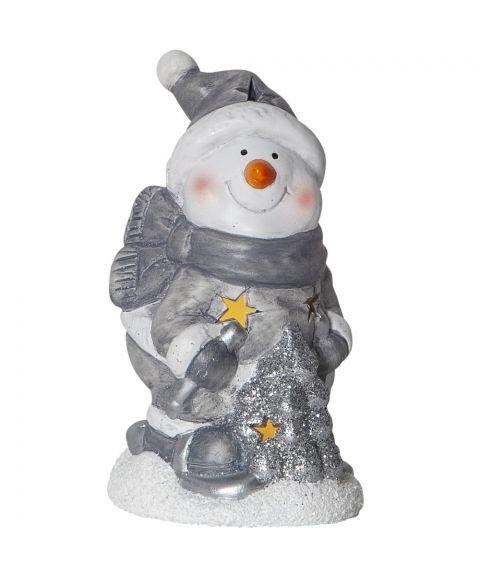 Friends dekorasjon snømann for batteri, høyde 15 cm, Hvit