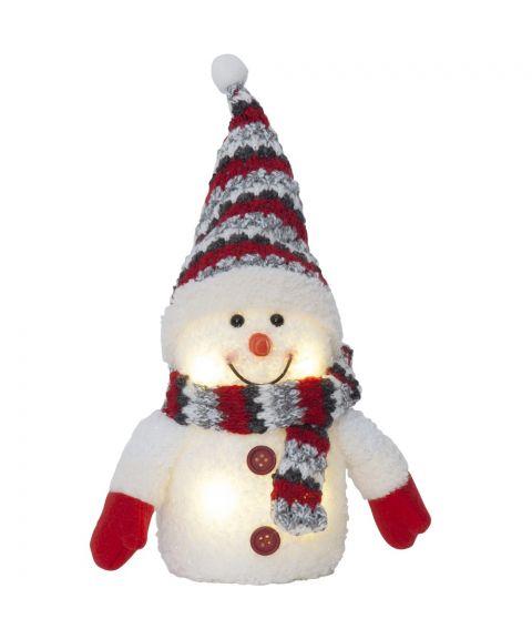 Joylight Snømann, for batteri, flerfarget, høyde 25 cm