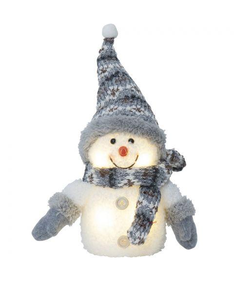 Joylight Snømann, for batteri, gråfarget, høyde 25 cm