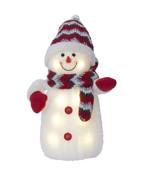 Joylight Snømann, for batteri, flerfarget, høyde 38 cm