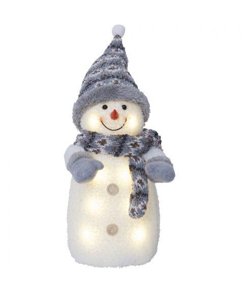 Joylight Snømann, for batteri, gråfarget, høyde 38 cm