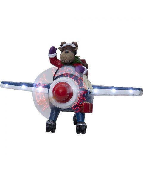 Kidsville Elg i fly bevegelse, for batteri, med timer, bredde 24 cm
