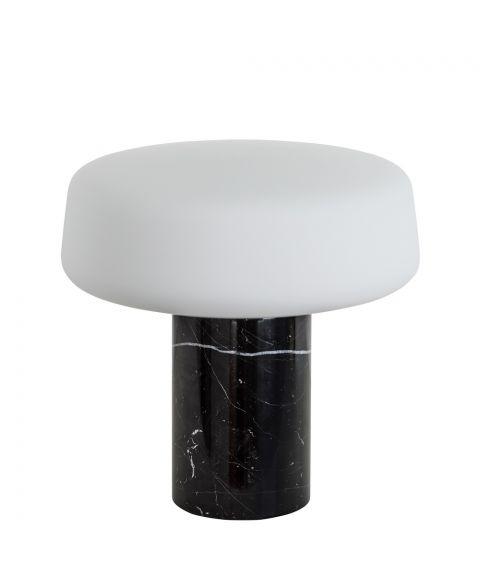 Solid Light bordlampe, høyde 22 cm, Nero Marquina Marble