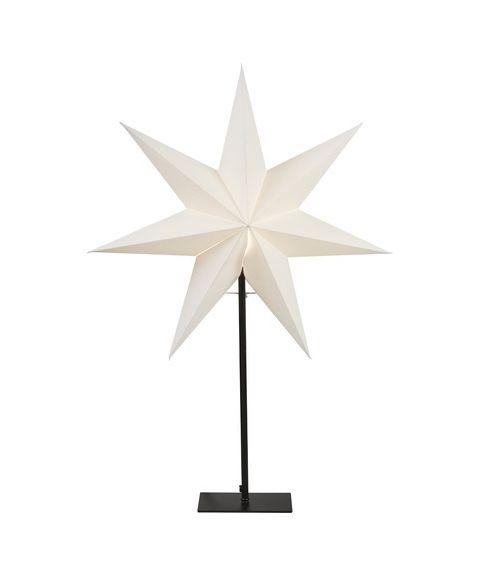 Frozen stjerne på fot, høyde 80 cm, Hvit