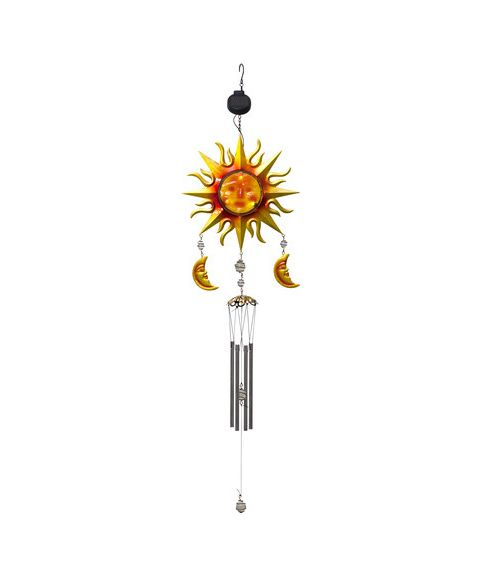 Windy uro, høyde 95 cm, Sol/Måne, Solcelle, LED