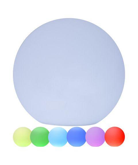Twilights utendørslampe RGB med fjernkontroll Rund 20 cm