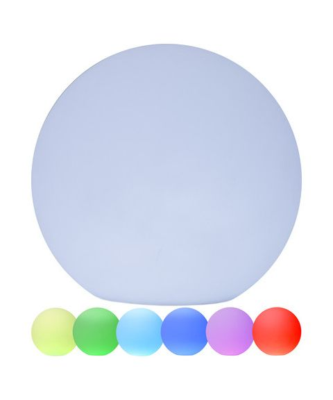 Twilights utendørslampe RGB med fjernkontroll Rund 50 cm