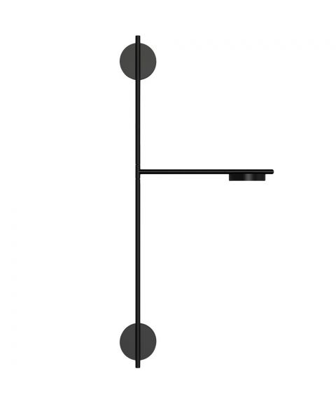 Igram vegglampe, dimbar 11W LED 1080lm 2700K, høyde 94 cm, Sort