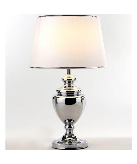 Kristin bordlampe (u/skjerm), høyde 40 cm, Krom