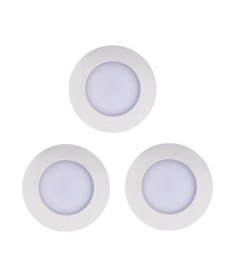 Leonis downlight 110° 4,5W LED 2700K 345lm IP65, pakke med 3