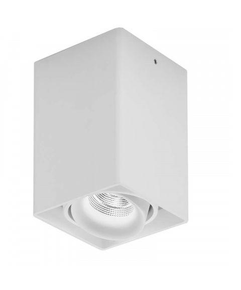 Light House 1 utenpåliggende downlight, dimbar LED 860lm CRI>90, Hvit