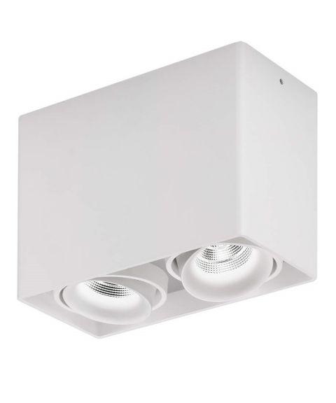 Light House 2 utenpåliggende downlight, dimbar LED 2x860lm CRI>90, Hvit