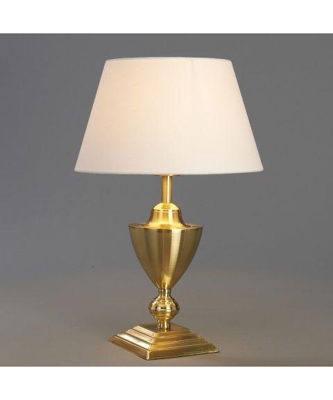 Lucas bordlampe (u/skjerm), Messingfarget (børstet), høyde 30 cm