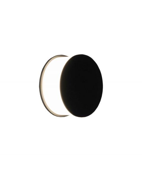 Luno K Vegglampe/taklampe dimbar LED 705lm 2700K CRI>95, Sort