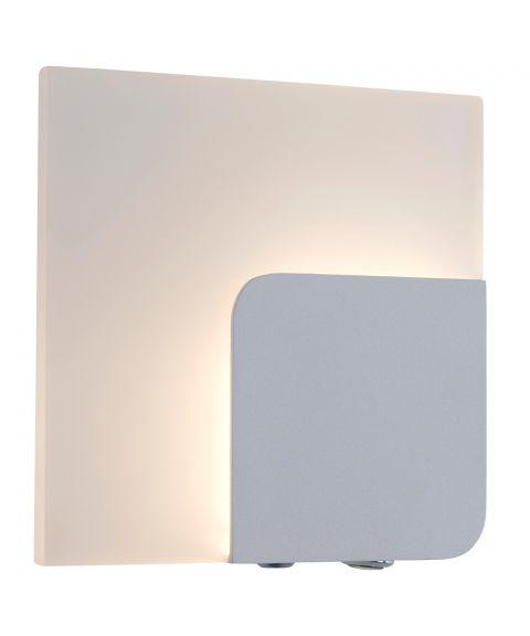 Maza vegglampe med dimmer, 15 x 15 cm, Hvit
