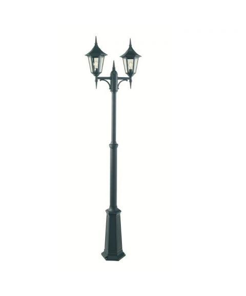 Modena 302 lyktestolpe, høyde 184-272 cm, 2 lyktehoder