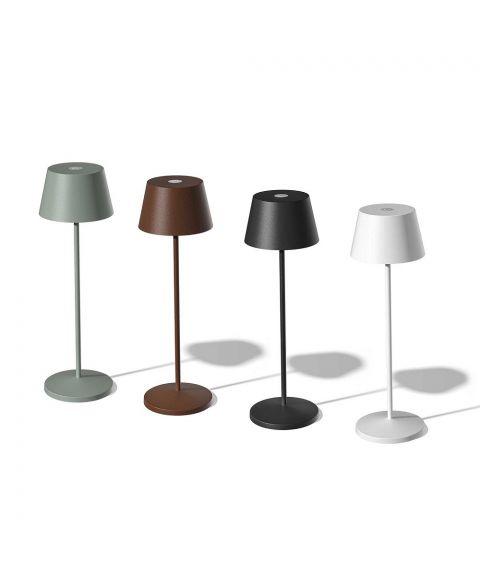 Modi oppladbar bordlampe, 150lm, høyde 36 cm