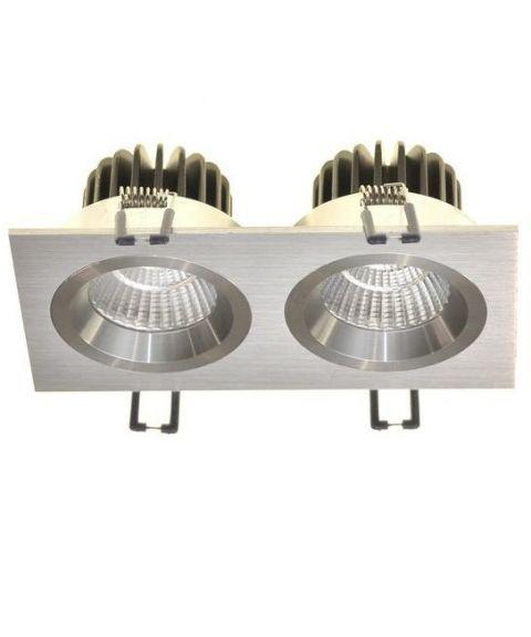 Nebraska HL duo downlight, 45°, 2x9W LED