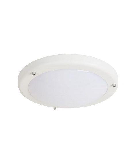 Loop P2080 plafond, 8W LED, diameter 23 cm, Hvit struktur (restlager)