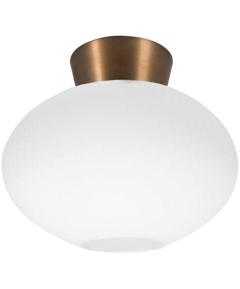 Bullo P2236 taklampe, diameter 27 cm, Opalt glass