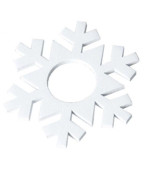 Mansjett snøstjerne i tre hvit, pakke med 7 stk