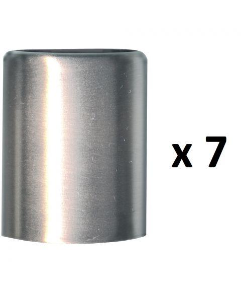 Mansjett metallhylse 3,2 cm for lysestaker 7-pk, Aluminium