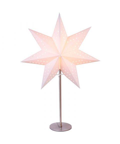 Bobo papirstjerne på fot, høyde 51 cm, Hvit