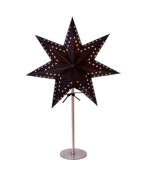 Bobo papirstjerne på fot, høyde 51 cm, Sort