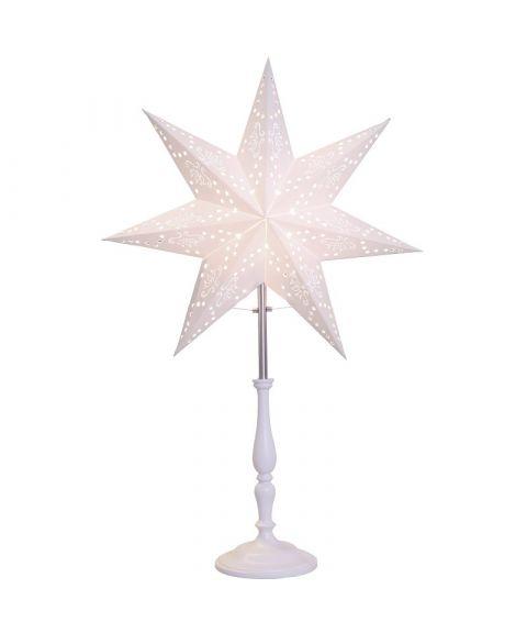 Romantic Mini papirstjerne på fot, høyde 55 cm, Hvit