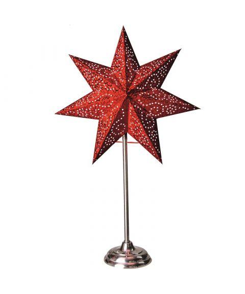 Antique papirstjerne på fot, høyde 55 cm, Rød
