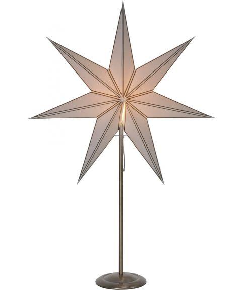 Nicolas hvit stjerne på fot, Patinert messing