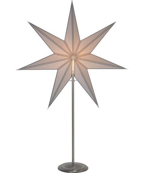 Nicolas hvit stjerne på fot, Børstet stål