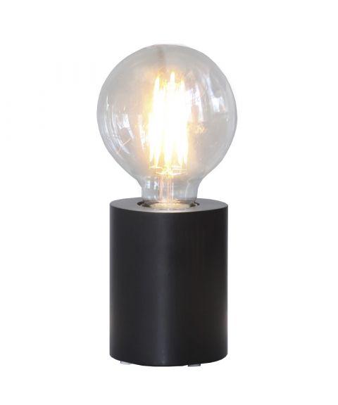 Tub lampefot i tre, E27, høyde 10 cm