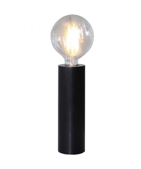 Tub lampefot i tre, E27, høyde 25 cm
