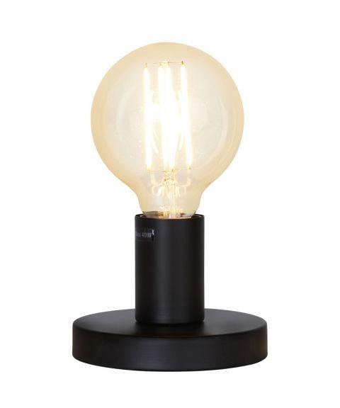 Glans lampefot i metall, høyde 8,5 cm