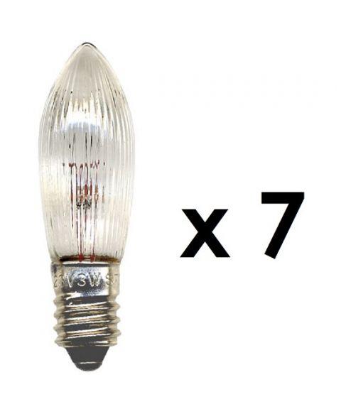 Reservepære glødelampe 34V 3W E10, 7-pk