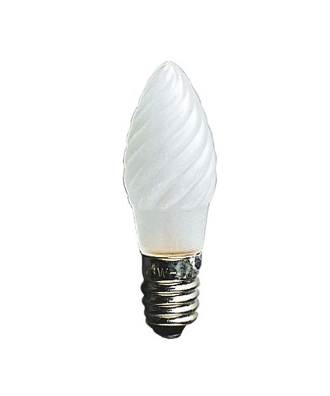 Reservepære glødelampe 12V 3W E10 frostet
