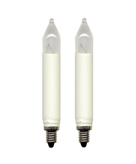 Reservepære glødelampe 23V 3W E10, 2-pk