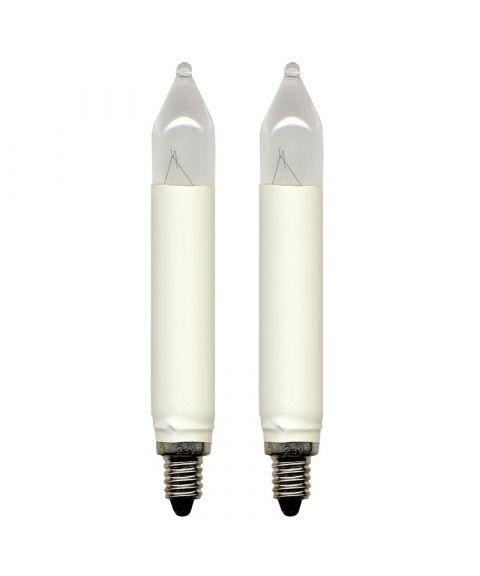 Reservepære glødelampe 34V 3W E10, 2-pk