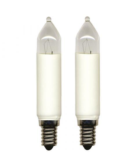 Reservepære glødelampe 14V 7W E14, 2-pk