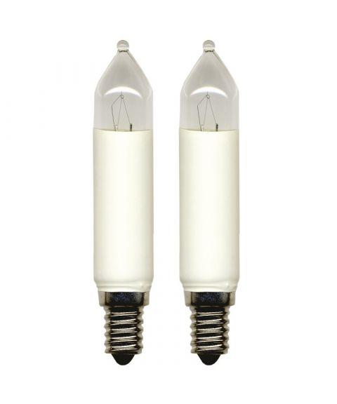 Reservepære glødelampe 16V 4W E14, 2-pk