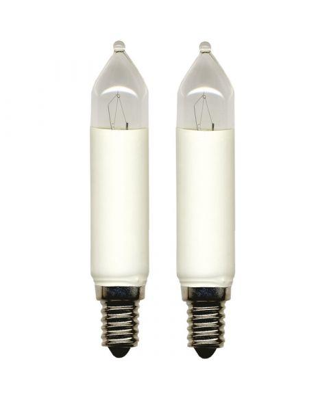 Reservepære glødelampe 34V 3W E14, 2-pk