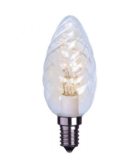 Decoration E14 Mignon krystall Klar 2600K 0,9W LED 75lm