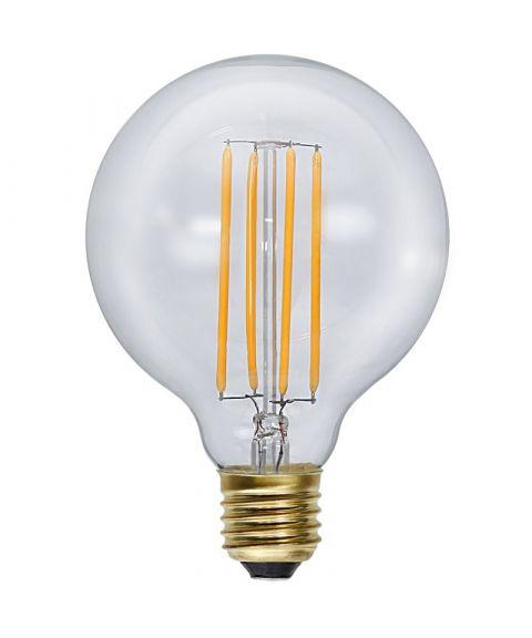 Globe E27 95mm Klar 2100K 3,6W LED 320lm, Dimbar
