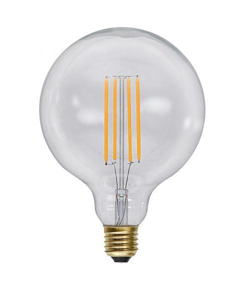 Globe E27 125mm Klar 2200K 4W LED 320lm, Dimbar