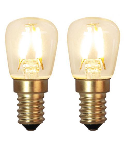 Decoration E14 Ozon 2100K 1,3W LED 90lm, 2-pk