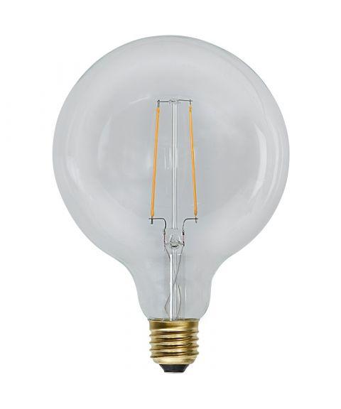 Globe E27 125mm Klar 2100K 2,3W LED 230lm